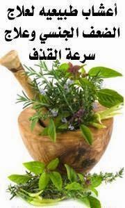 علاج سرعة القذف عند الرجال بالأعشاب الطبية
