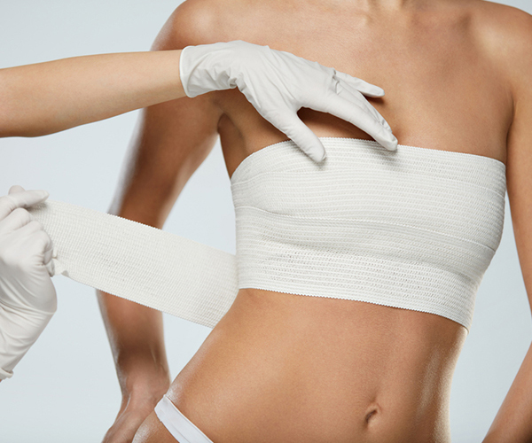Wrap Breast with elastic band